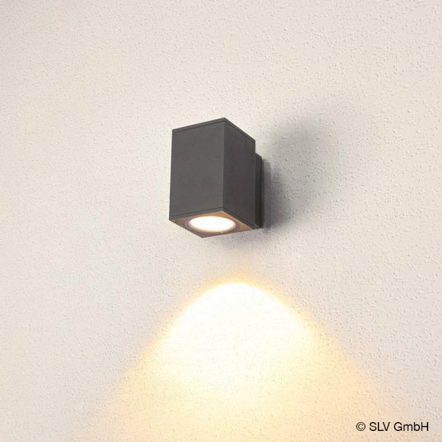 SLV ENOLA LED wall light with CCT, single, square