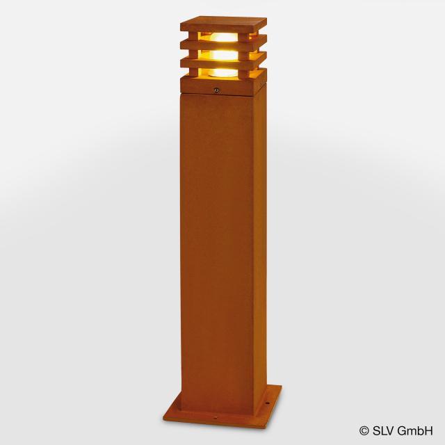 SLV RUSTY SQUARE 70 LED bollard light