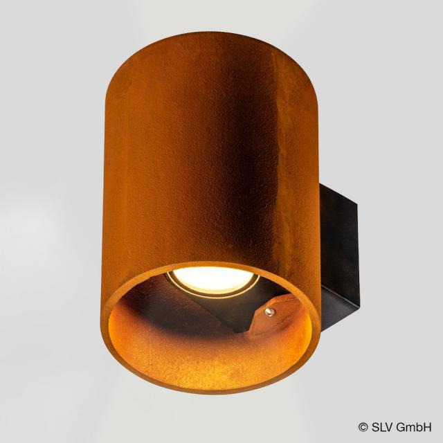 SLV RUSTY UP/DOWN LED wall light, round
