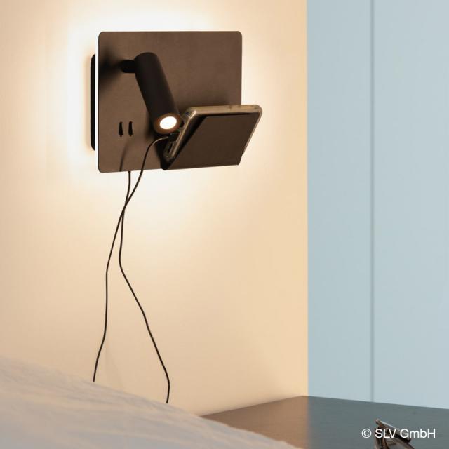 SLV SOMNILA USB LED spotlight / wall light, left