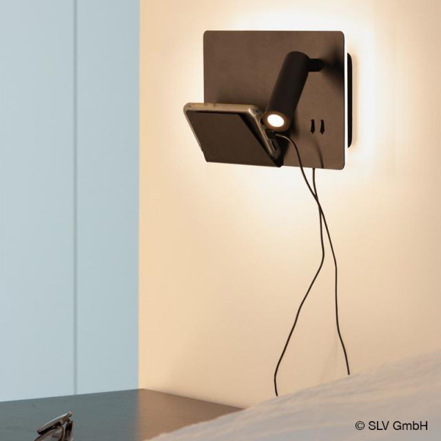 SLV SOMNILA USB LED spotlight / wall light, right