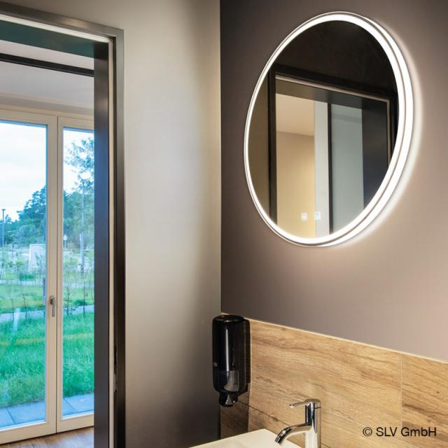 SLV TRUKKO mirror with LED lighting, round