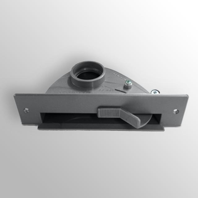 Reuter central vacuum cleaner skirting board inlet grey