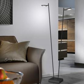 Sompex Quad LED floor lamp with dimmer, 2 heads