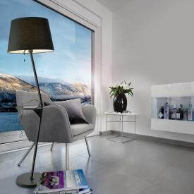 Sompex Tabulo II USB floor lamp with shelf and pull-switch