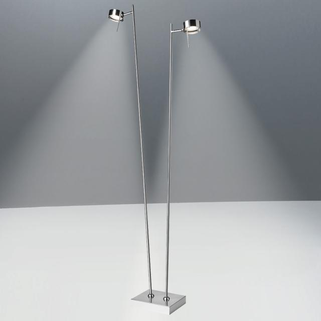 Sompex Bling LED floor lamp with dimmer 2 heads