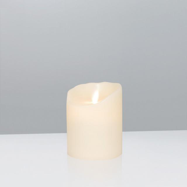 Sompex Flame LED real wax candle with timer, remote controllable, extra small