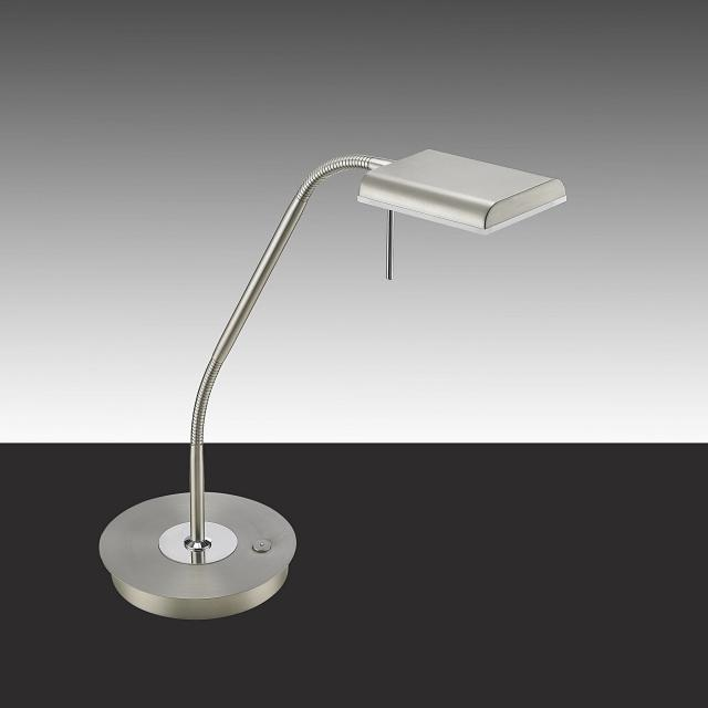 TRIO Bergamo LED table lamp with dimmer