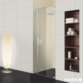 Sprinz Achat R Plus one-way swing door with adjacent panel in recess TSG light crystal / chrome