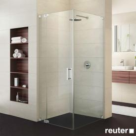Sprinz Achat R Plus one-way swing door with fixed panel and side panel TSG light crystal with SpriClean / chrome