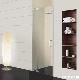 Sprinz Achat R Plus one-way swing door with fixed panel in recess TSG light crystal with SpriClean / chrome