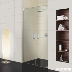 Sprinz Achat R Plus two-way swing doors in recess TSG light crystal with SpriClean / chrome