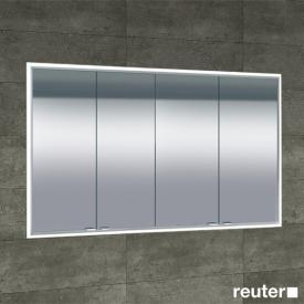 Sprinz Classical-Line recessed mirror cabinet fully illuminated corpus: matt aluminium / rear panel: mirrored