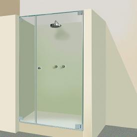 Sprinz Omega door in recess light crystal SpriClean / chrome