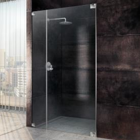 Sprinz Omega one-way swing door with adjacent panel in recess TSG light crystal SpriClean / chrome