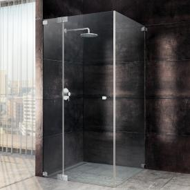 Sprinz Omega one-way swing door with fixed panel and side panel TSG light crystal SpriClean / chrome