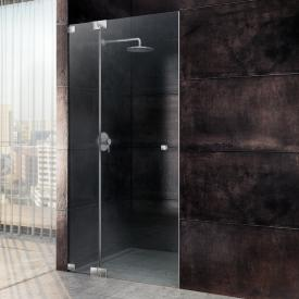 Sprinz Omega one-way swing door with fixed panel in recess TSG light crystal SpriClean / chrome