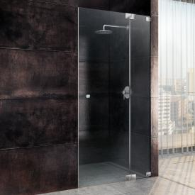 Sprinz Omega one-way swing door with fixed panel in recess TSG light crystal with SpriClean / chrome