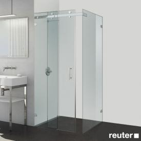 Sprinz Opalin S sliding door with fixed panel and side panel TSG light crystal with SpriClean / chrome