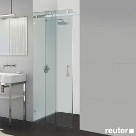 Sprinz Opalin S sliding door with fixed panel in recess TSG light crystal / chrome