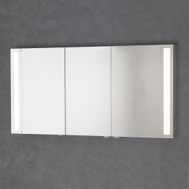 Sprinz Silver-Line Armoire de toilette en applique avec éclairage LED avec 3 portes corps du meuble réfléchissant, sans rétro-éclairage