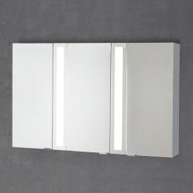 Sprinz Silver-Line mounted mirror cabinet Model no. 04 corpus matt aluminium, without backlighting