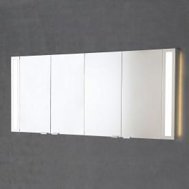Sprinz Silver-Line mounted mirror cabinet Model no. 06 corpus matt aluminium, with backlighting