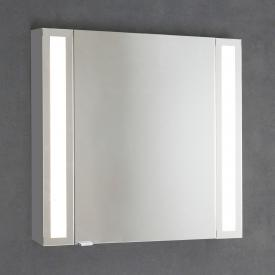 Sprinz Silver-Line mounted mirror cabinet Model no. 01 corpus matt aluminium, without backlighting