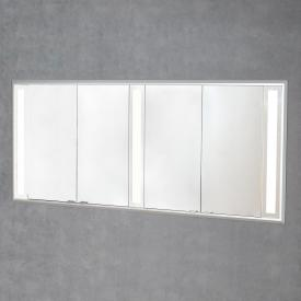 Sprinz Silver-Line recessed mirror cabinet with LED lighting with 4 doors without background lighting