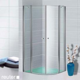 Sprinz Sprinter Plus quadrant two-way swing doors TSG light crystal / silver high gloss, STIM 88.3-90 cm
