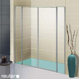 Sprinz Sprinter Plus two-ways doors with fixed panels in recess TSG light crystal / silver high gloss, STIM 126.5-130 cm