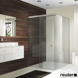 Sprinz Tansa sliding door with fixed panel and side panel TSG light crystal with SpriClean / matt silver