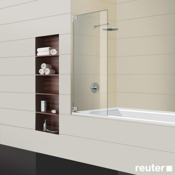 Sprinz Achat R Plus bath screen light crystal / chrome