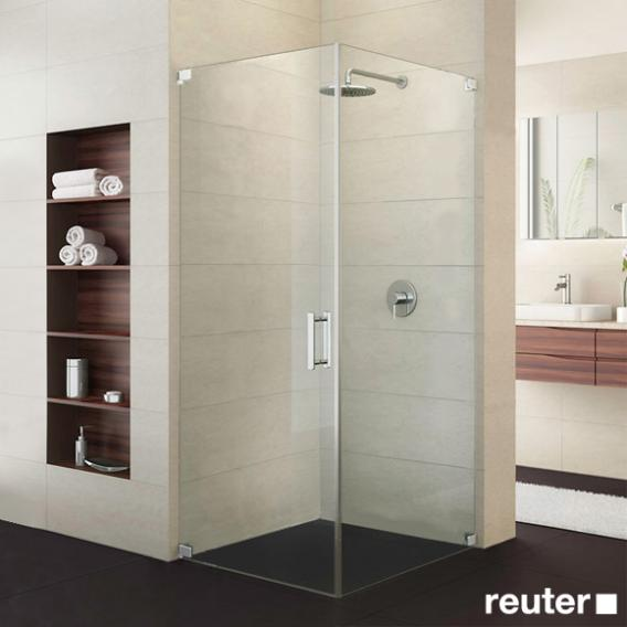 Sprinz Achat R Plus one-way swing door with side panel TSG light crystal / chrome