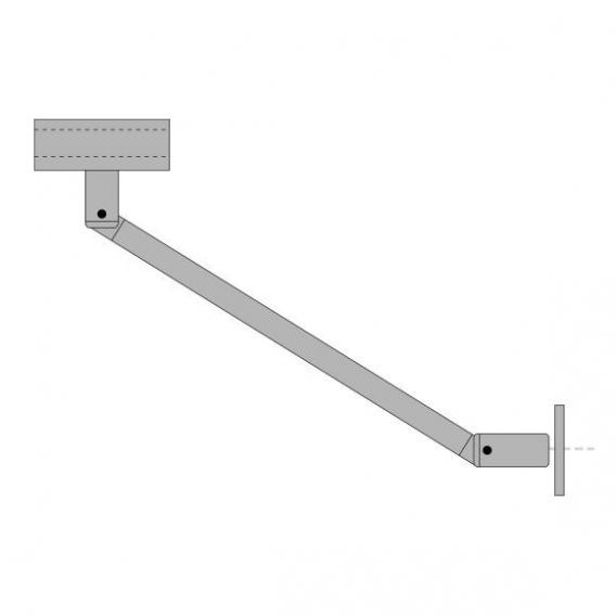 Sprinz jointed bar for 6/8 mm glass, square L: 23 cm