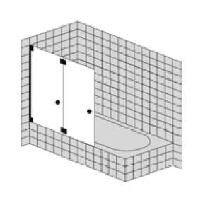 Sprinz Omega Plus folding bath screen