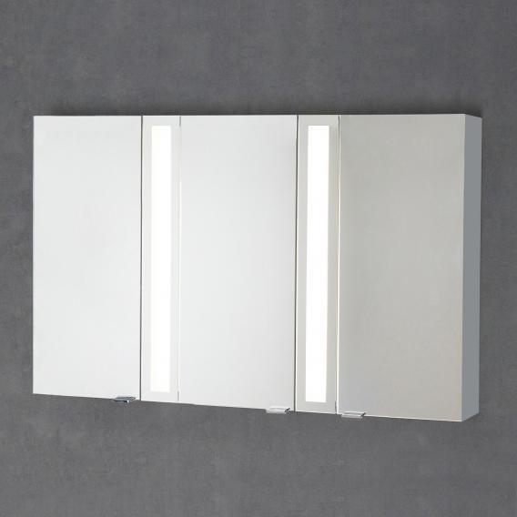 Sprinz Silver-Line mounted mirror cabinet Model no. 04 corpus matt aluminium, without backlighting