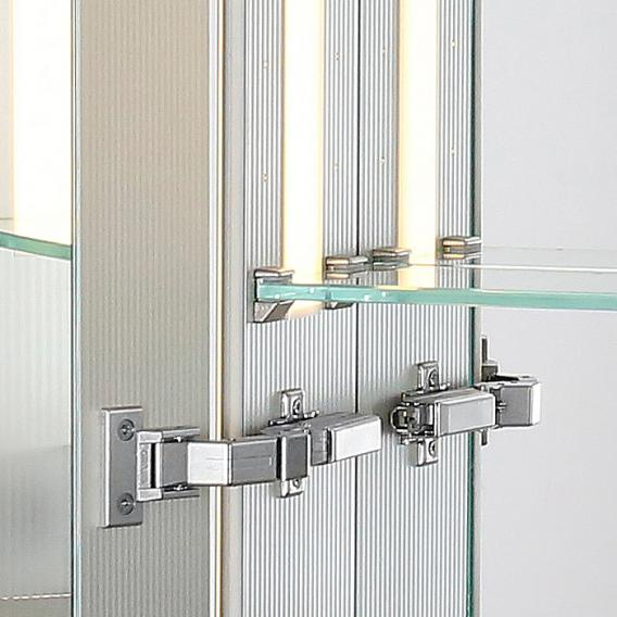 Sprinz Silver-Line mounted mirror cabinet Model no. 01 corpus matt aluminium, without backlighting