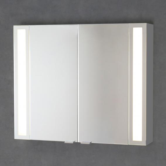 Sprinz Silver-Line mounted mirror cabinet Model no. 02 corpus matt aluminium, without backlighting