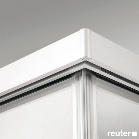Sprinz Tansa door with side panel light crystal SpriClean / matt silver
