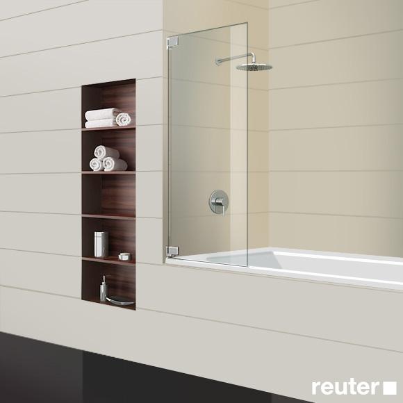 Sprinz Achat R Plus one-way swing door bath screen TSG light crystal / chrome