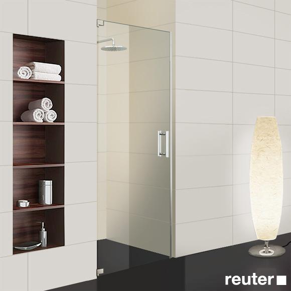 Sprinz Achat R Plus one-way swing door in recess TSG light crystal / chrome
