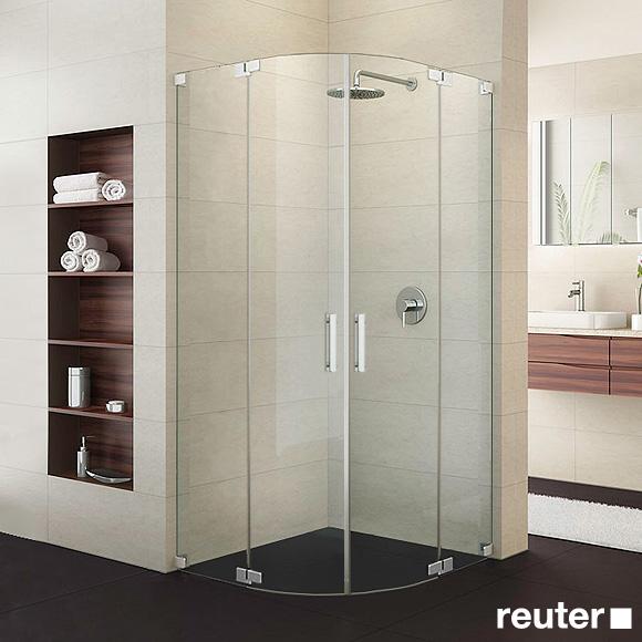 Sprinz Achat R Plus quadrant two-way swing doors TSG light crystal / chrome
