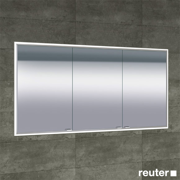 Sprinz Classical-Line recessed mirror cabinet with LED lighting with 3 doors