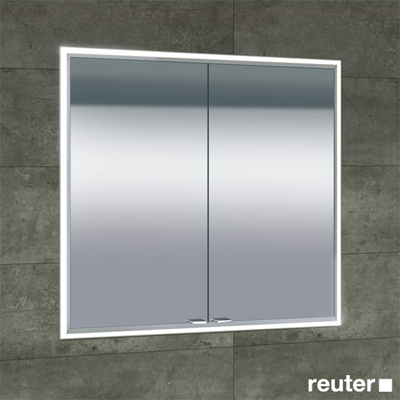 Sprinz Classical-Line recessed mirror cabinet with LED lighting with 2 doors