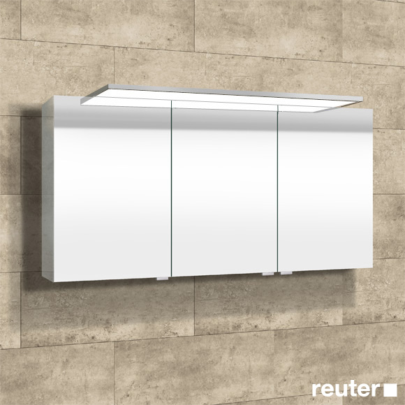 Sprinz Modern-Line mounted mirror cabinet with LED lighting without background lighting
