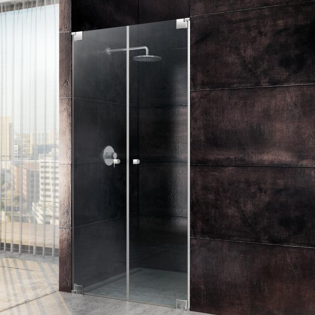 Sprinz Omega two-way swing doors in recess TSG light crystal SpriClean / chrome