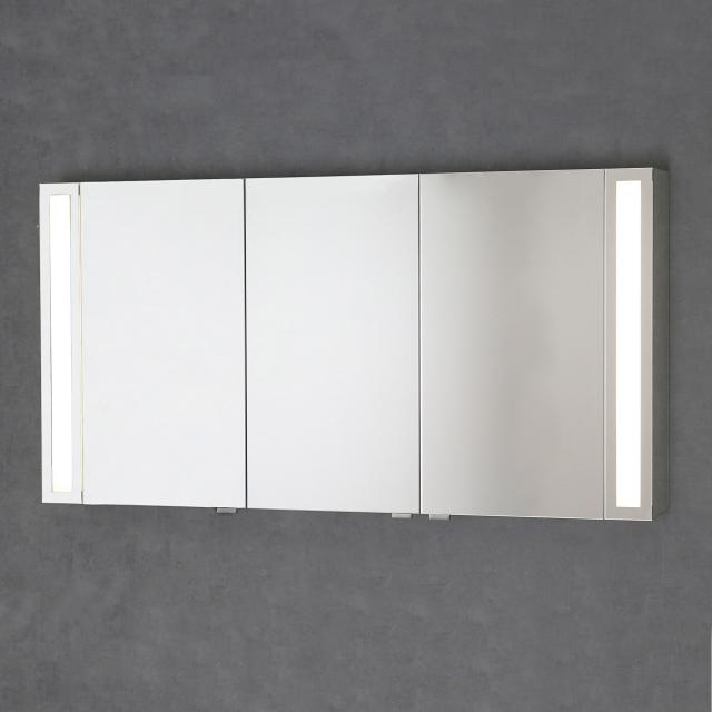 Sprinz Silver-Line mounted mirror cabinet with LED lighting with 3 doors corpus mirrored, without background lighting