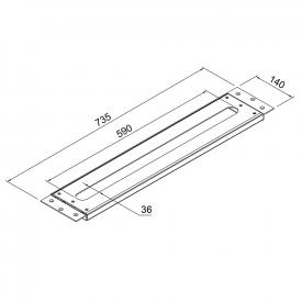 Steinberg 100 mounting plate for all basin and deck-mounted bath fittings