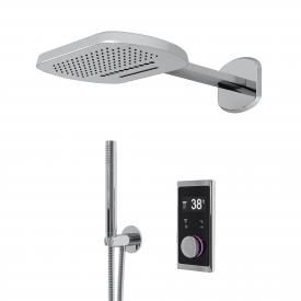 "Steinberg Sensual Rain ""iFlow"" shower system with Sensual Rain ""Wall Rain"" overhead shower, oval"
